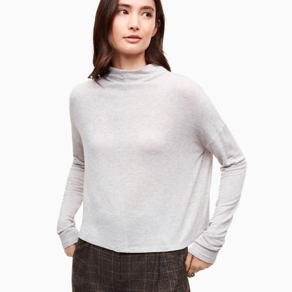 Wilfred lussac wool blend mock neck top